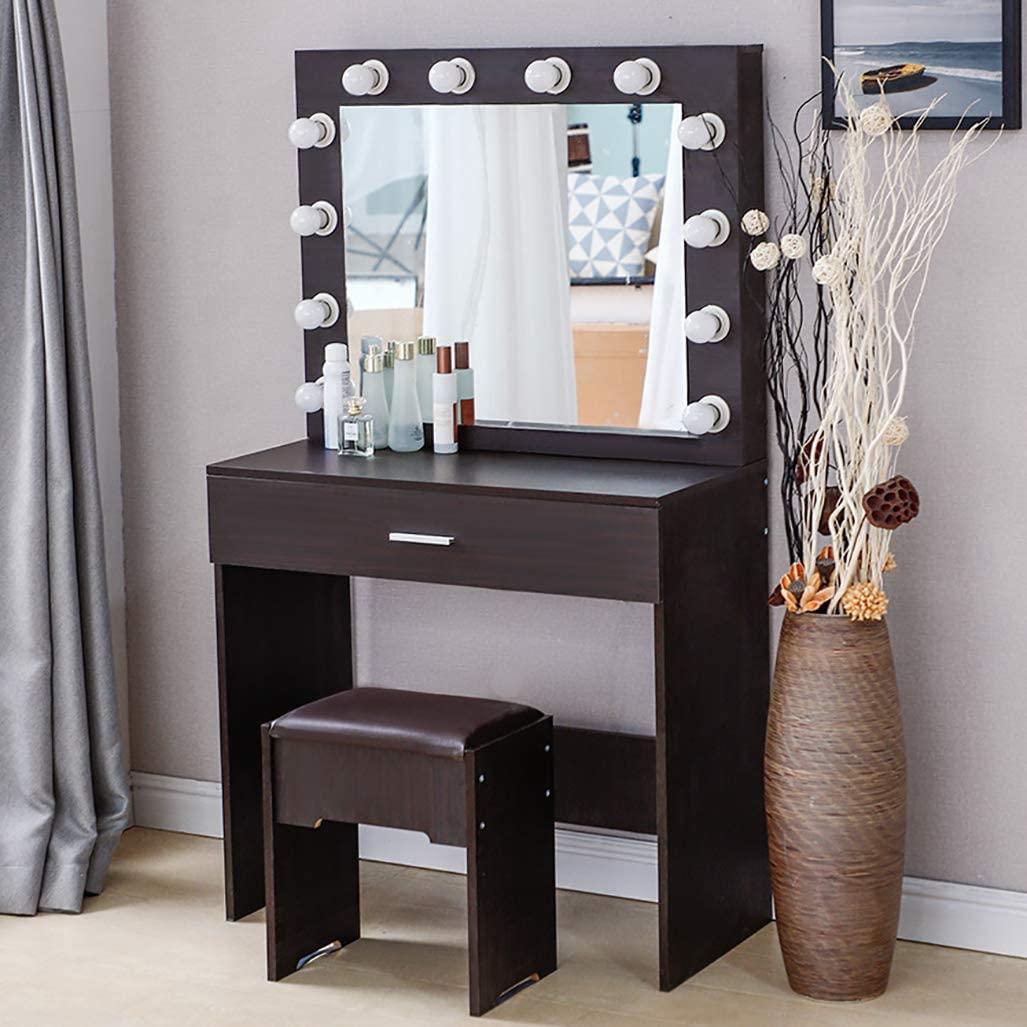Riforla Makeup Vanity Mirror Lighted Dressing Table Vanity Set
