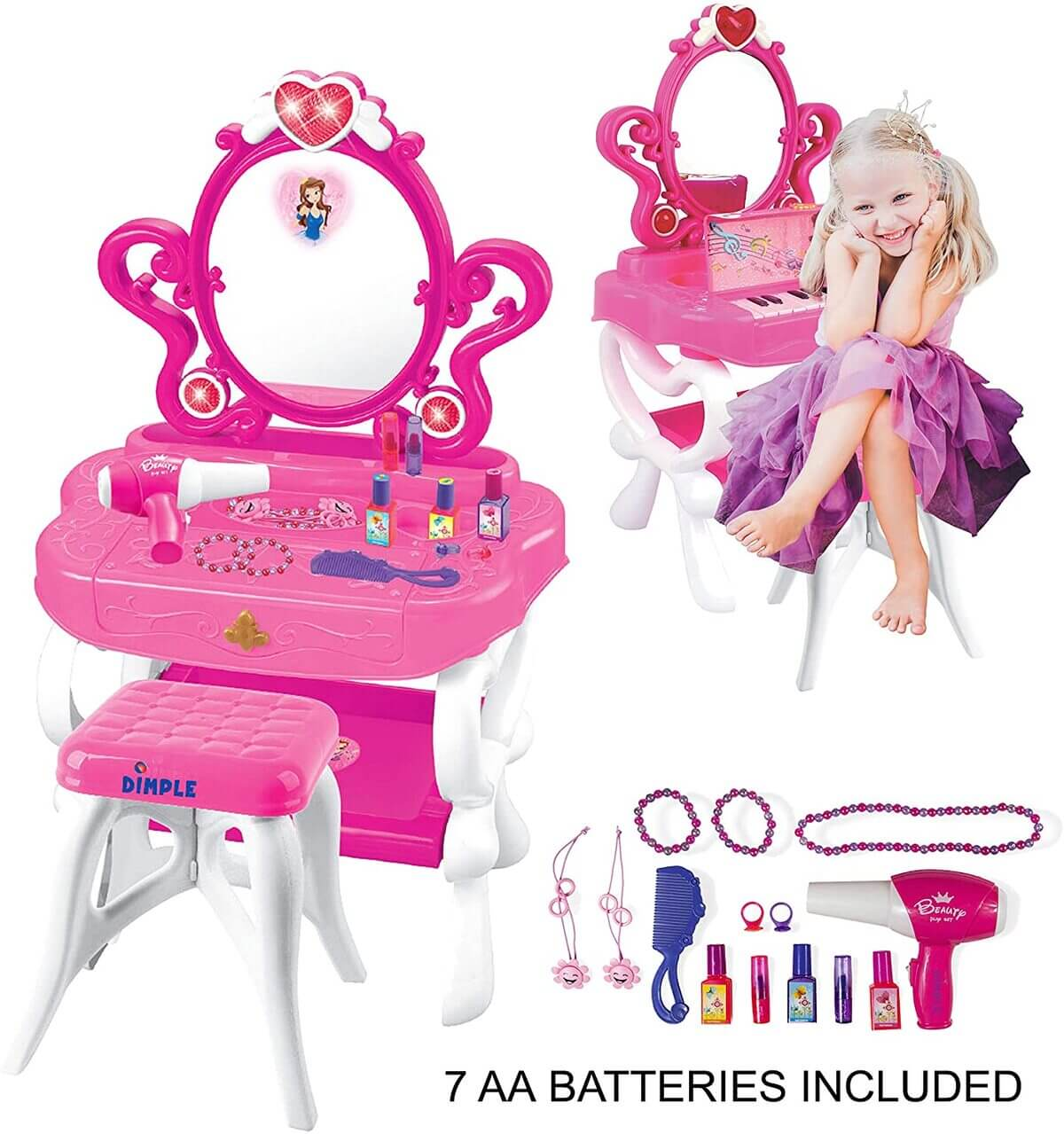 10 Best Little Girls Vanity Table Set Price and Review