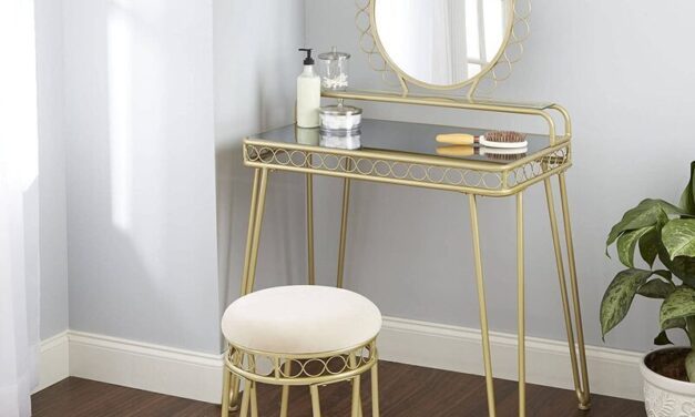 Top 10 Mirrored Makeup Vanity Table 2021