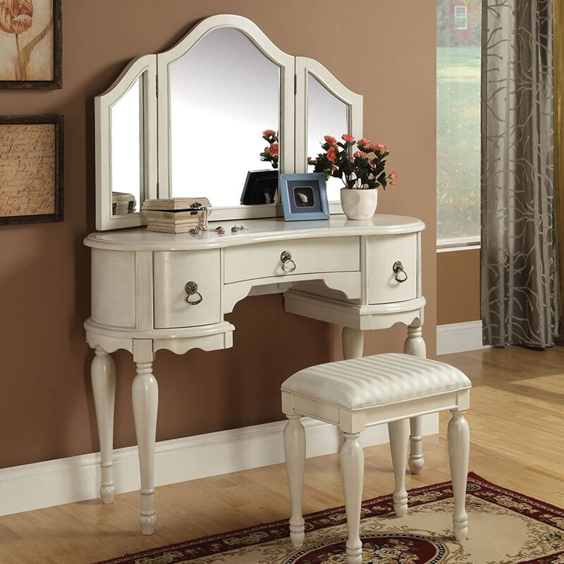 Top #10 Vintage Vanity Tables with Mirror and Bench