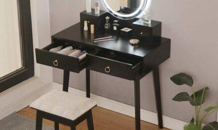 Top Ten Best Black Vanity Tables with Mirror