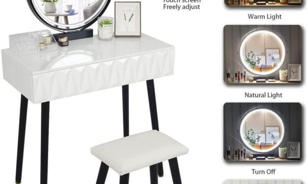 Top 10 White Vanity Tables with Lights