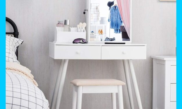 Top 10 White Vanity Table with Drawers Review 2021
