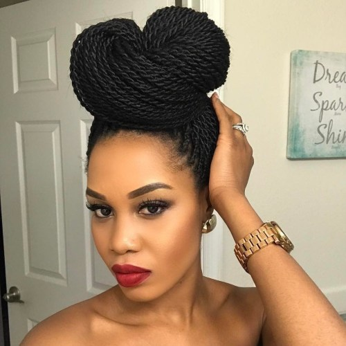 Two Buns Up Senegalese Twists